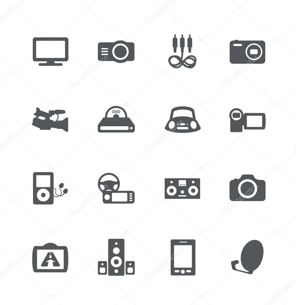 Electronics icon set — Stock Vector © domofono #10945826