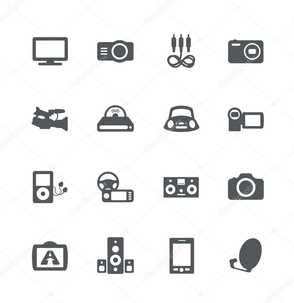 Electronics icon set — Stock Vector © domofono #10945826