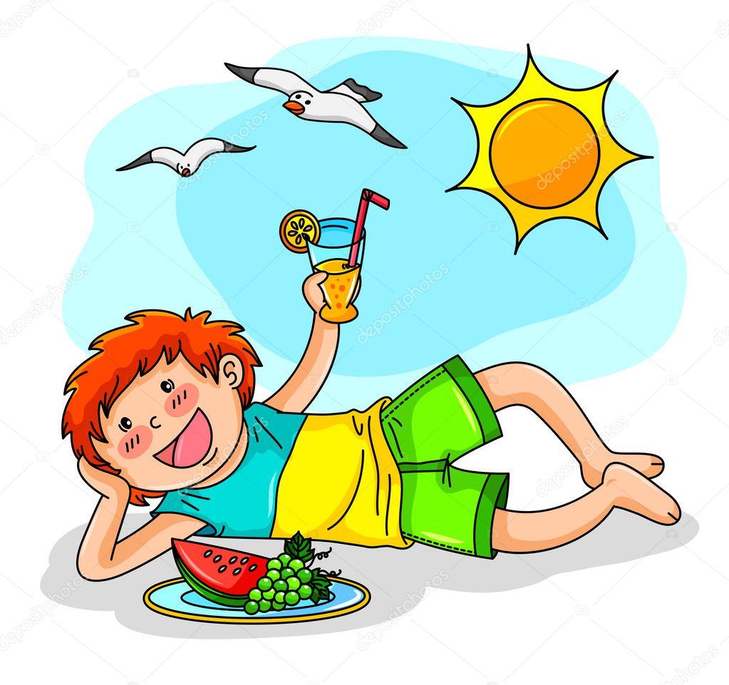 Have A Great Summer Clip Art Summer Vacation Stock Vector C Ayeletkeshet 11418864