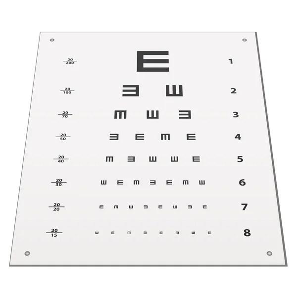 Snellen eye test chart — Stock Vector © happyroman #11495221