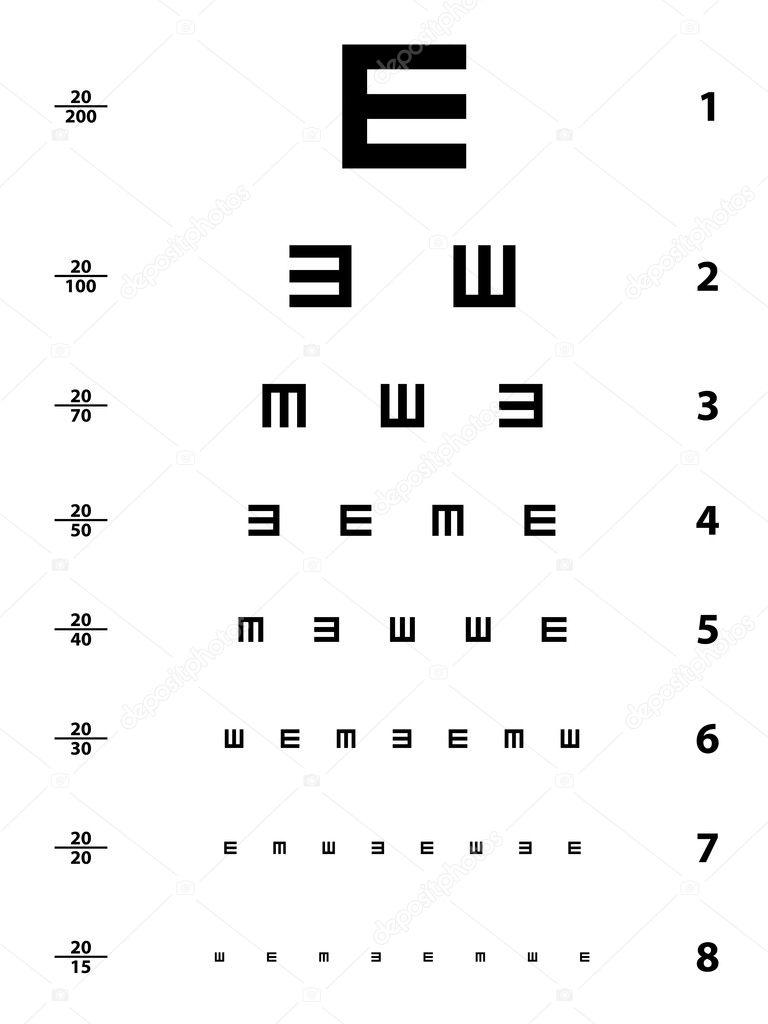 Snellen eye test chart — Stock Vector © happyroman #11495216