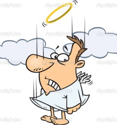 clipart falling male angel trying to flap his tiny wings to gain altitude royalty free vector illustration by ron leishman stock illustration [ 1024 x 873 Pixel ]