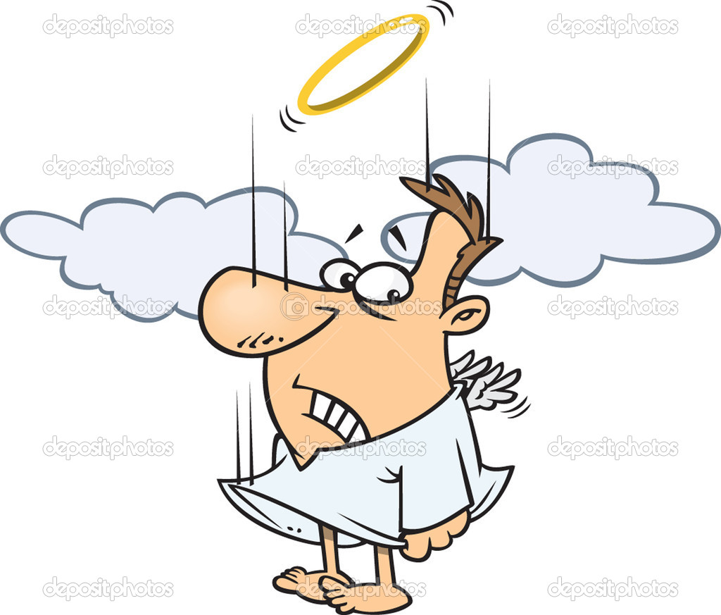 hight resolution of clipart falling male angel trying to flap his tiny wings to gain altitude royalty free vector illustration by ron leishman stock illustration