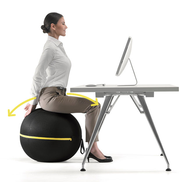 fitball balance ball chair ergonomic urban ladder active sitting options for telecommuters - virtual vocations