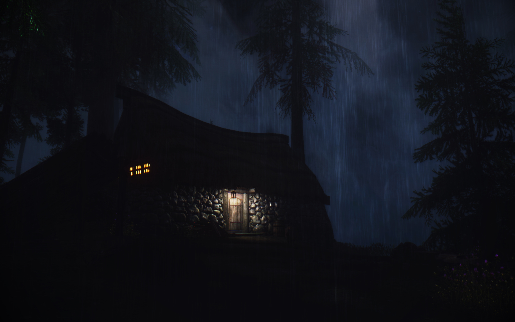 Cottage In The Storm At Skyrim Nexus Mods And Community