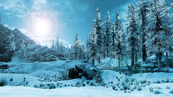 winter landscape skyrim nexus