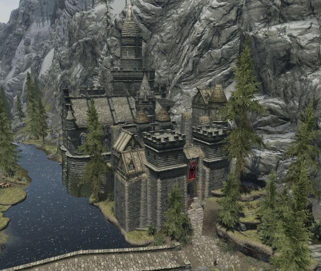 Player Home Showcase Castle Riverwood At Skyrim Nexus Mods And