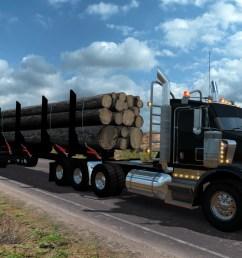 t800 log truck [ 1920 x 1200 Pixel ]