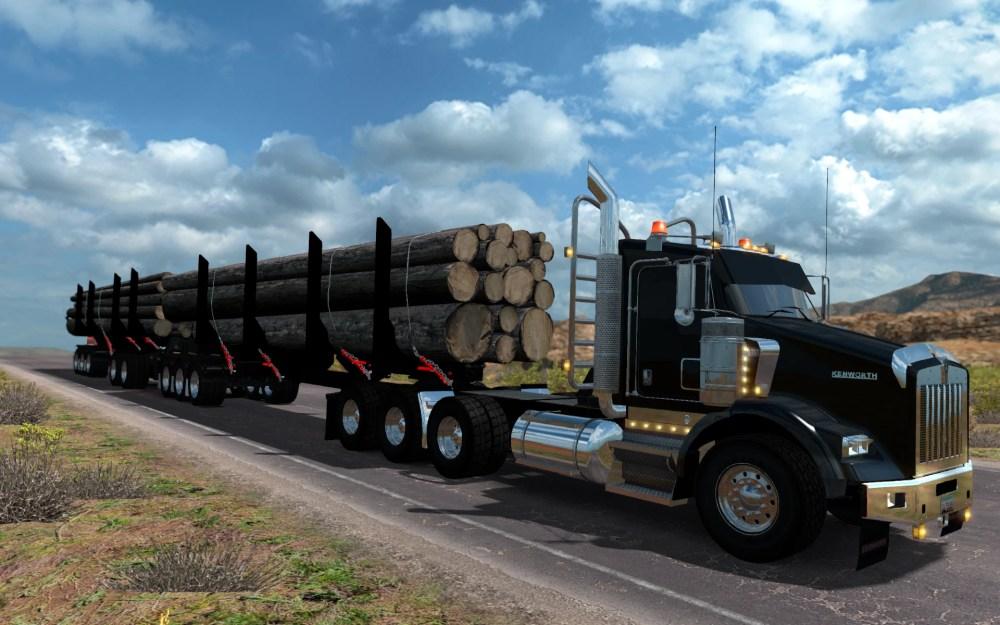 medium resolution of t800 log truck