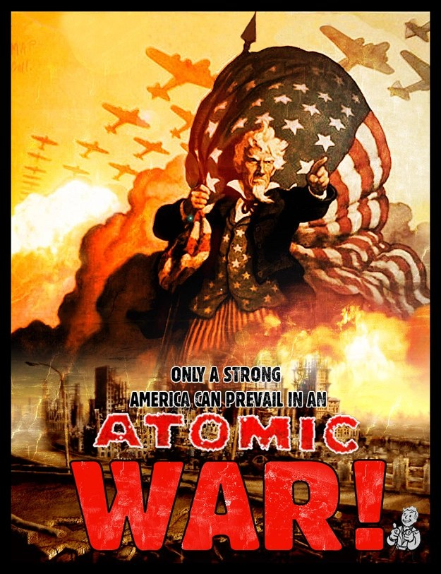 New Fall Creator Wallpaper A Nuclear Strong America Propaganda At Fallout New Vegas