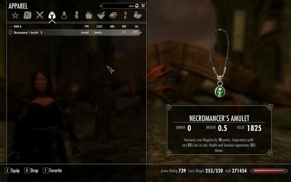 True Necromancer Amulet Skyrim Nexus Mods And Community