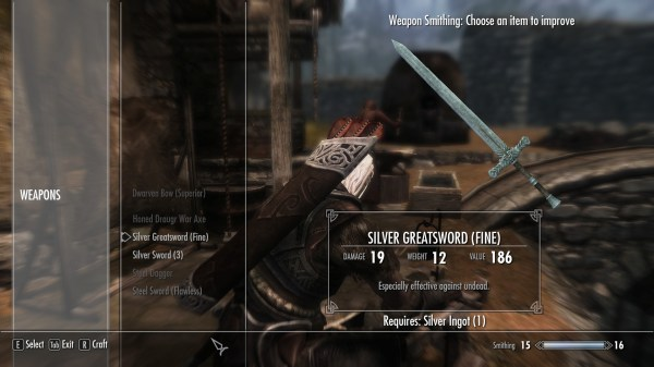 Skyrim Silver Weapons Mod