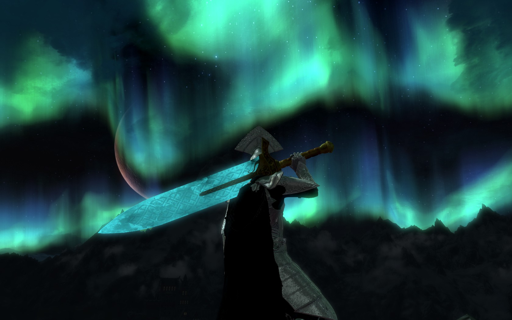 Skyrim Animated Wallpaper Lorkhan Moonlight Greatsword Project With Animated