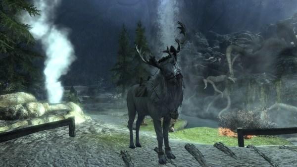 Quenya Spirit Of Forest White Stag Deer Mount Skyrim Nexus - Mods And Community