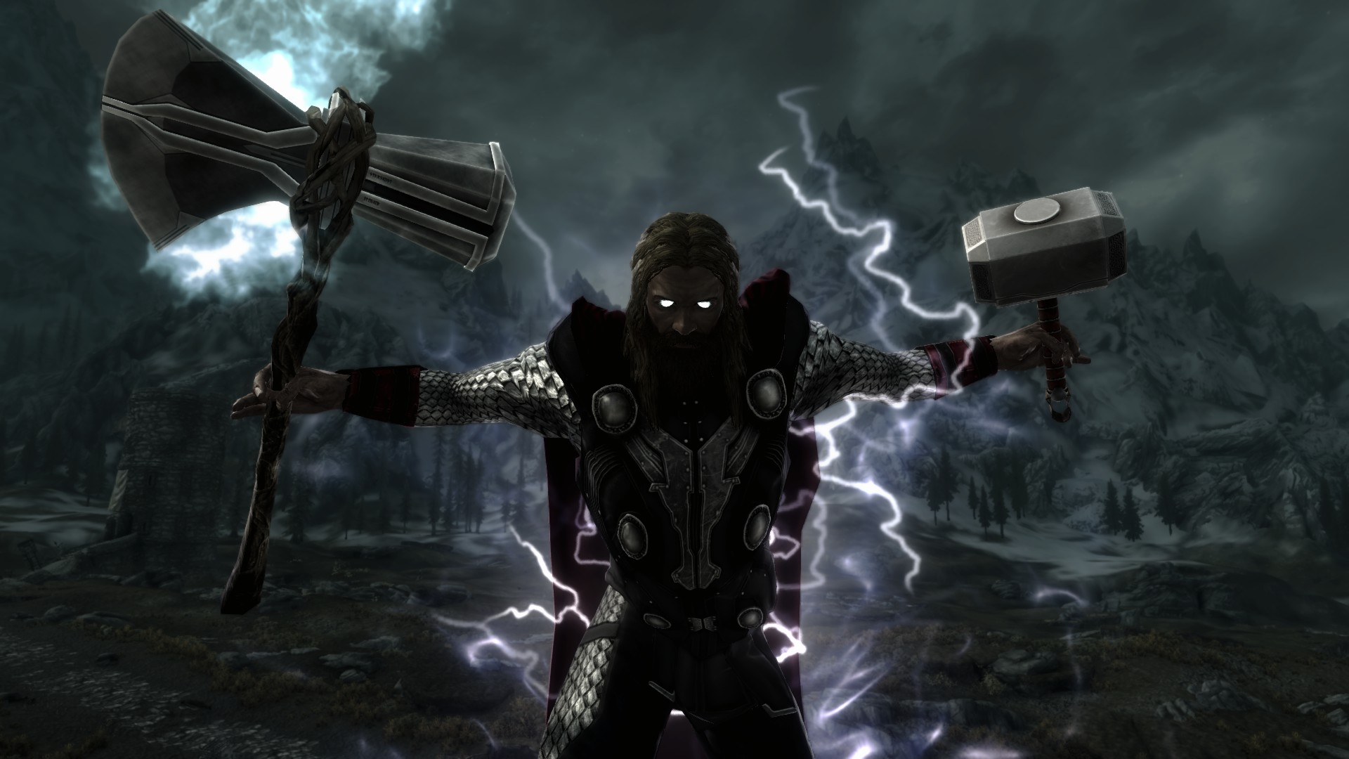 Heart of Thunder - Ragnarok Edition - Thor's Armour Mjolnir and Stormbreaker at Skyrim Nexus - mods and community