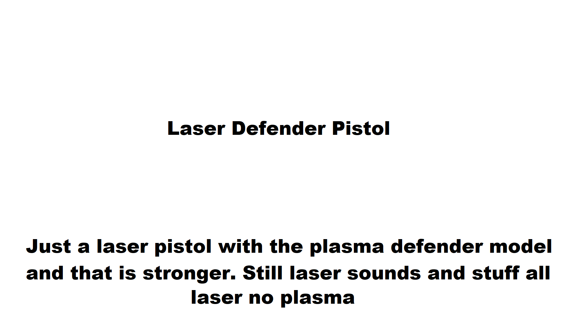 Laser Defender Pistol At Fallout New Vegas