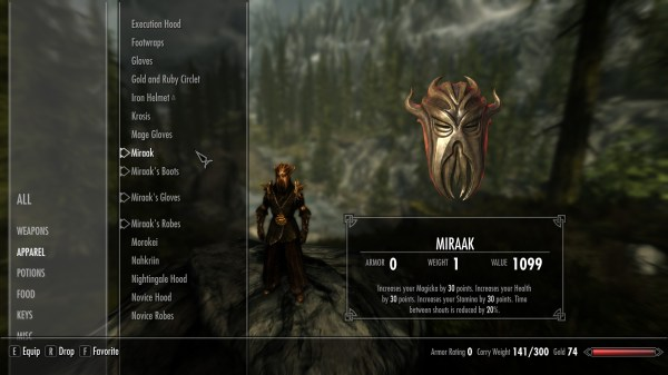 Miraak Skyrim Clothes - Year of Clean Water