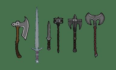 Iron Weapons Redux by Kredans Legacy Version at Skyrim
