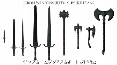 Iron Weapons Redux By Kredans SSE at Skyrim Special