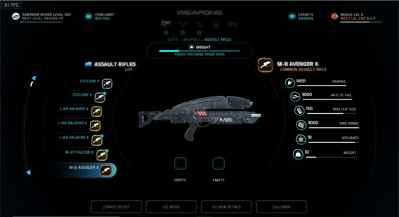 all x guns modded at Mass Effect Andromeda Nexus - Mods and Community
