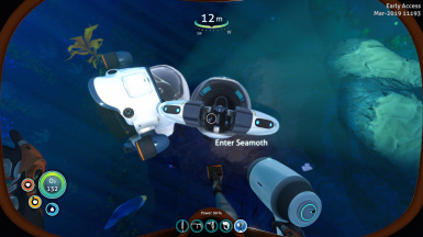 below zero seamoth at