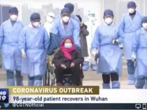 Image result for 98-year-old Chinese woman cured of coronavirus in Wuhan