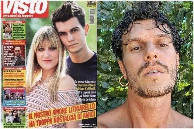 Martina Stavolo e Adriano Bettinelli (ieri e oggi)