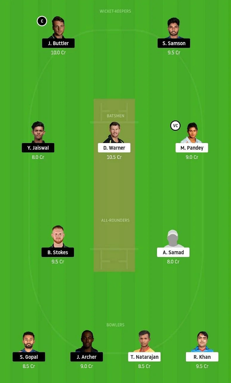 SRH vs RR IPL Dream11 Tips