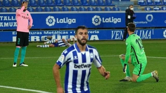 Alaves vs Barcelona 1-1 draw