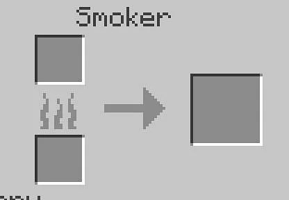 To use a Smoker enter the crafting table.png