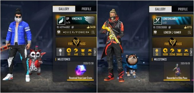 OP Vincenzo vs Lokesh Gamer: Who has better stats in Free Fire?