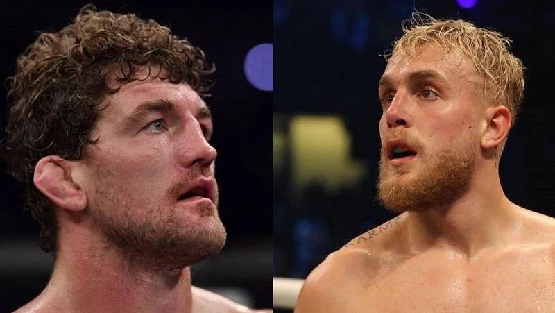 Ben Askren (left); Jake Paul (right)