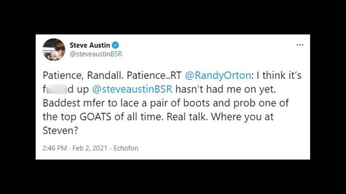How Steve Austin responded to Randy Orton