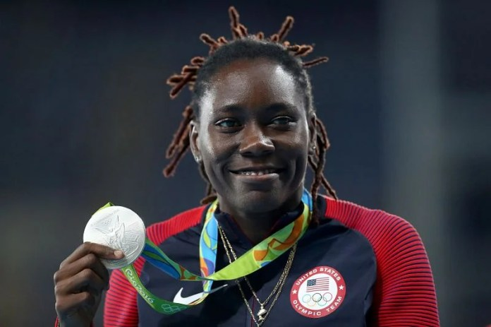 United States silver medalist Brittany Reese at Rio 2016 Olympic Games