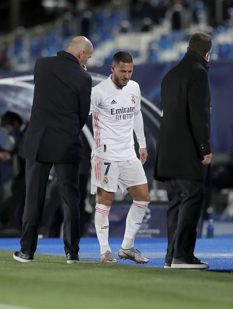 Zinedine Zidane provides Eden Hazard fitness update ahead ...