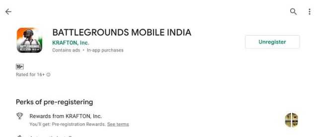 Pre-registrations for Battlegrounds Mobile India are on (Image via Google Play)
