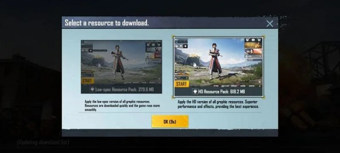 Players have to download the Resource Packs