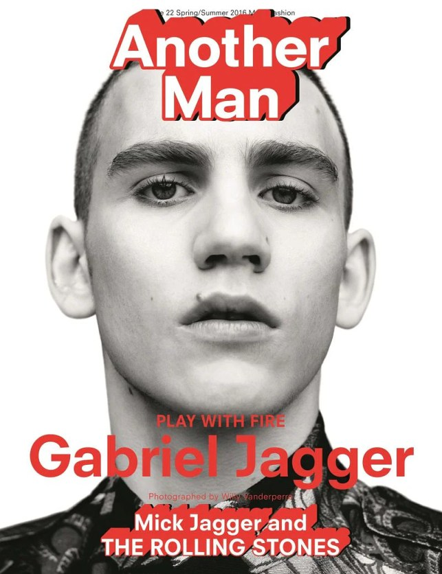 Gabriel Jagger on the cover of another main magazine (photo by one person)
