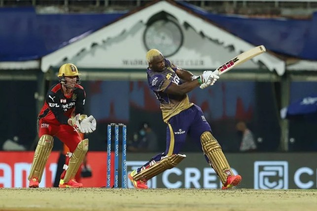 Andre Russell's strike rate against RCB is 215.11 (Photo courtesy: IPLT20.com)