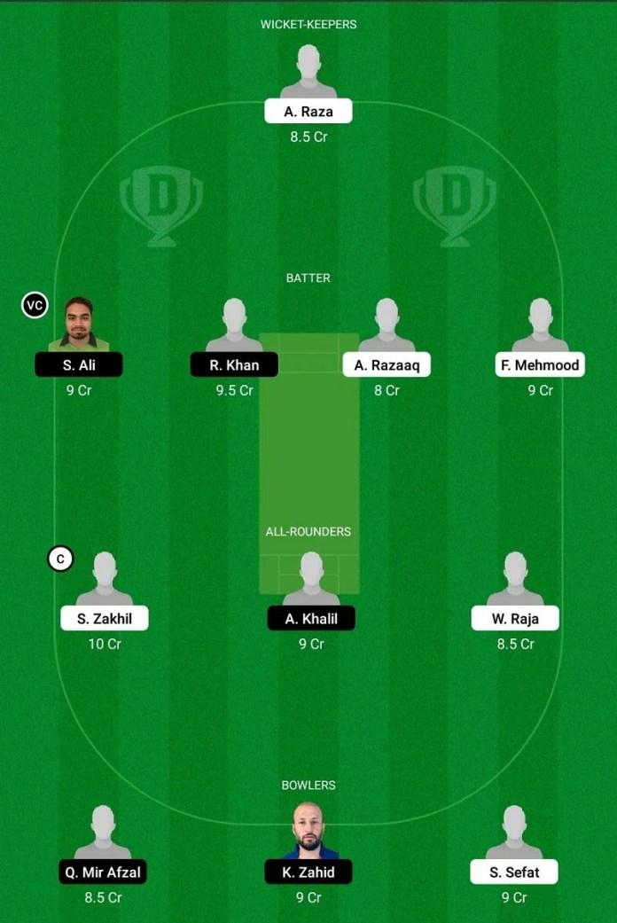 ECC T10: BEL vs SWE Dream11 Team - 1