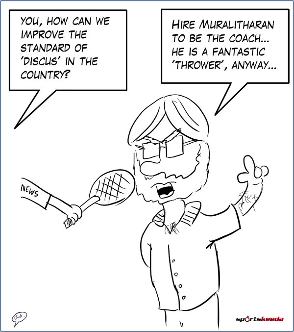 Comic: Bishen Singh's expert advice on improving 'discus