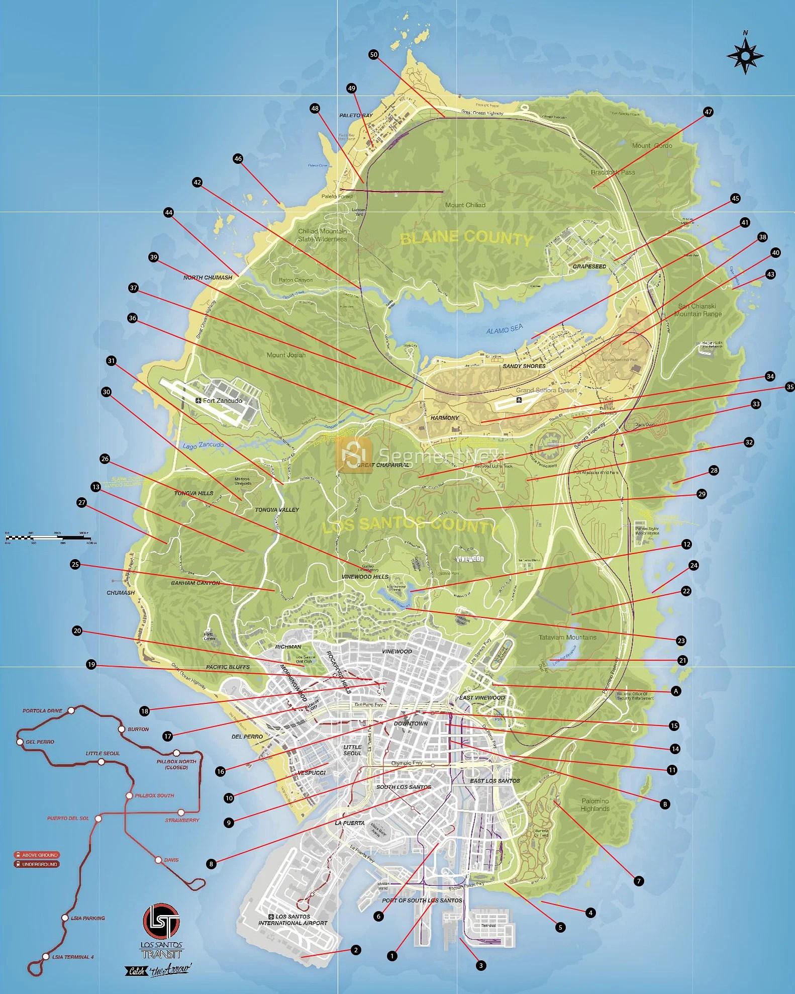 Gta 5 Rare Car Locations Map Offline : locations, offline, Hidden, Vehicles