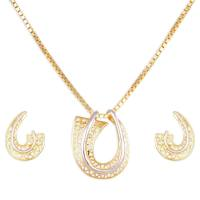 Gold Pendant Set