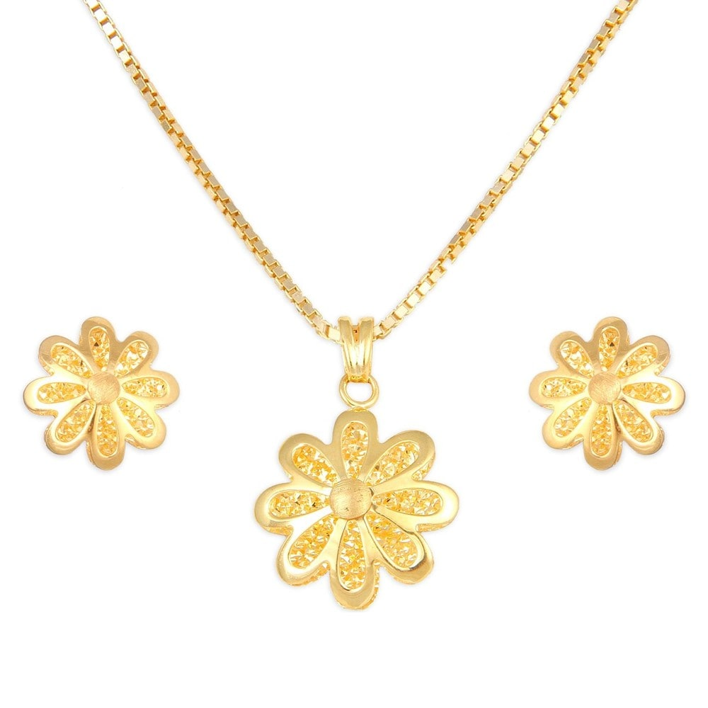 Buy Tanishq 22 KT Gold Pendant Set ID 5131131CNABA00 for