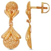 Buy Tanishq Yellow Gold Drop Earring 512016DNAABA00 Online