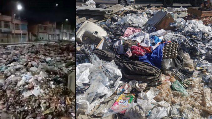 Denuncian calles inundadas de basuras en Bogotá