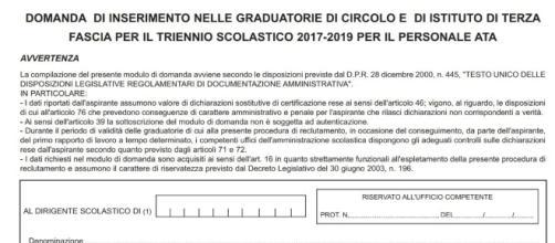 Scuola Terza Fascia Modelli D2 D4 Cambio Provincia