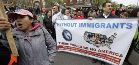 Image result for photos of rallies against trump's immigration policies