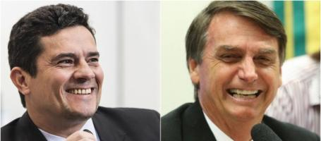 Image result for Moro e Bolsonaro