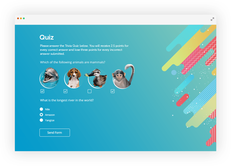 Free Online Multiple Choice Quiz Maker By 123formbuilder